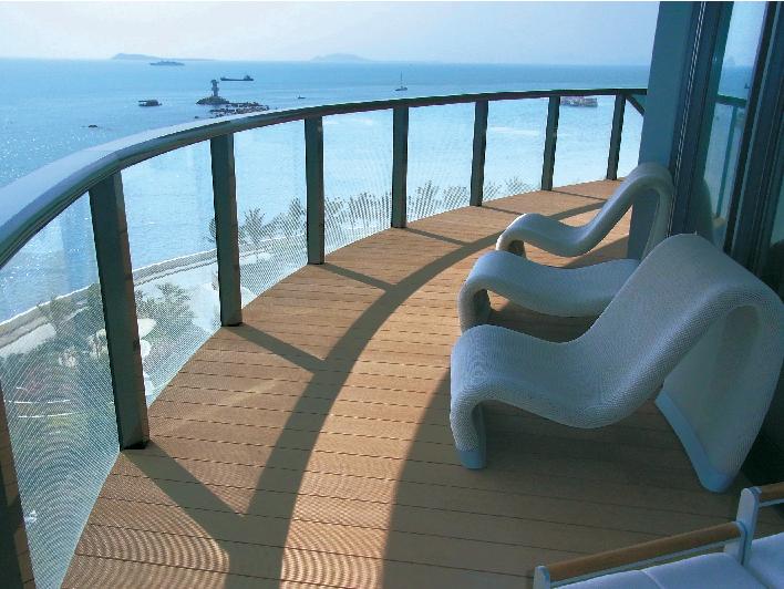 deck of a resort hotel in china ein super wood e top co ltd